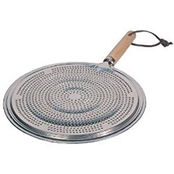 Maxi-Aids Simmer Ring Aluminum Heat Diffuser with Wood Handle